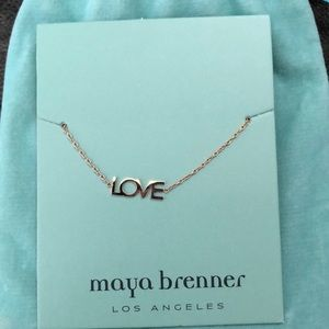 LOVE necklace made by Maya Brenner